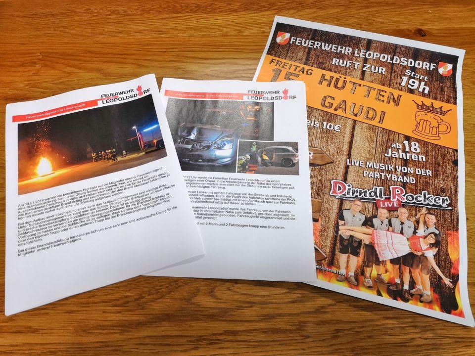 Neben unserer Webseite, Facebook, Twitter und Instagram informieren wir die Bevölkerung über unser Tun auch noch ganz traditionell über Schaukästen.#112live #leopoldsdorf112 #feuerwehralltag