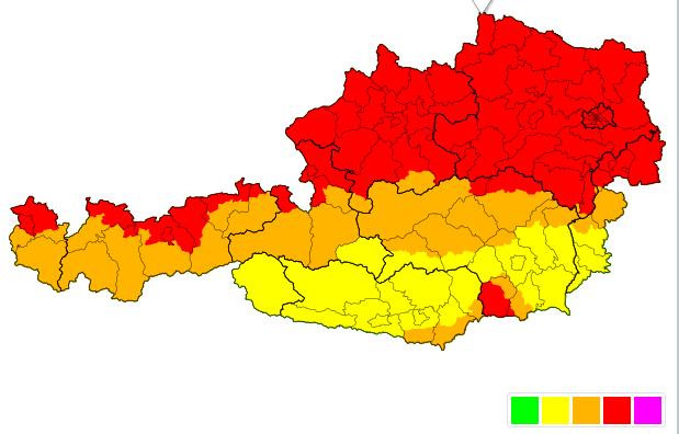 +++ Sturmwarnung - Montag 10.02.2020 +++Laut UWZ muss am Montag dem 10.02.2020 an der Alpennordseite verbreitet mit Böen von 80-110 km/h gerechnet werden.Warnstufe Rot: schwerer Sturm - Böen über 100 km/h